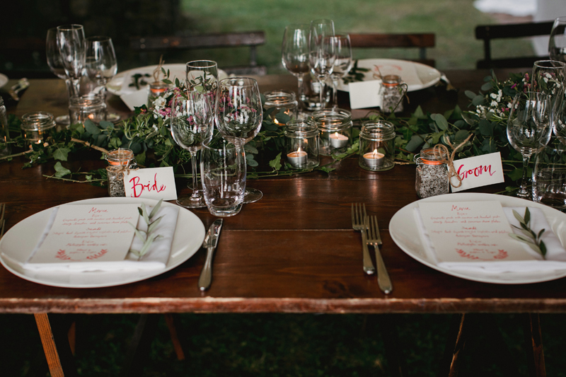 114 table setting for a wedding in the countryside Rachel & Michael   Outdoor Rustic Wedding   Umbria Wedding Photographer