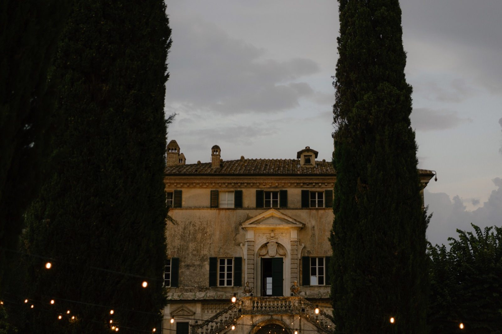 Villa Cetinale at sunset
