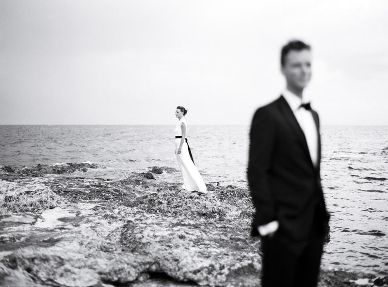 bride portrait on film