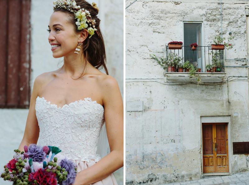 bride in Puglia