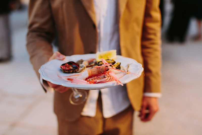 food wedding in masseria