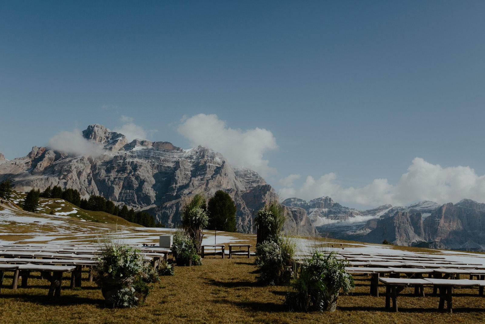 wedding celebration in the Dolomites