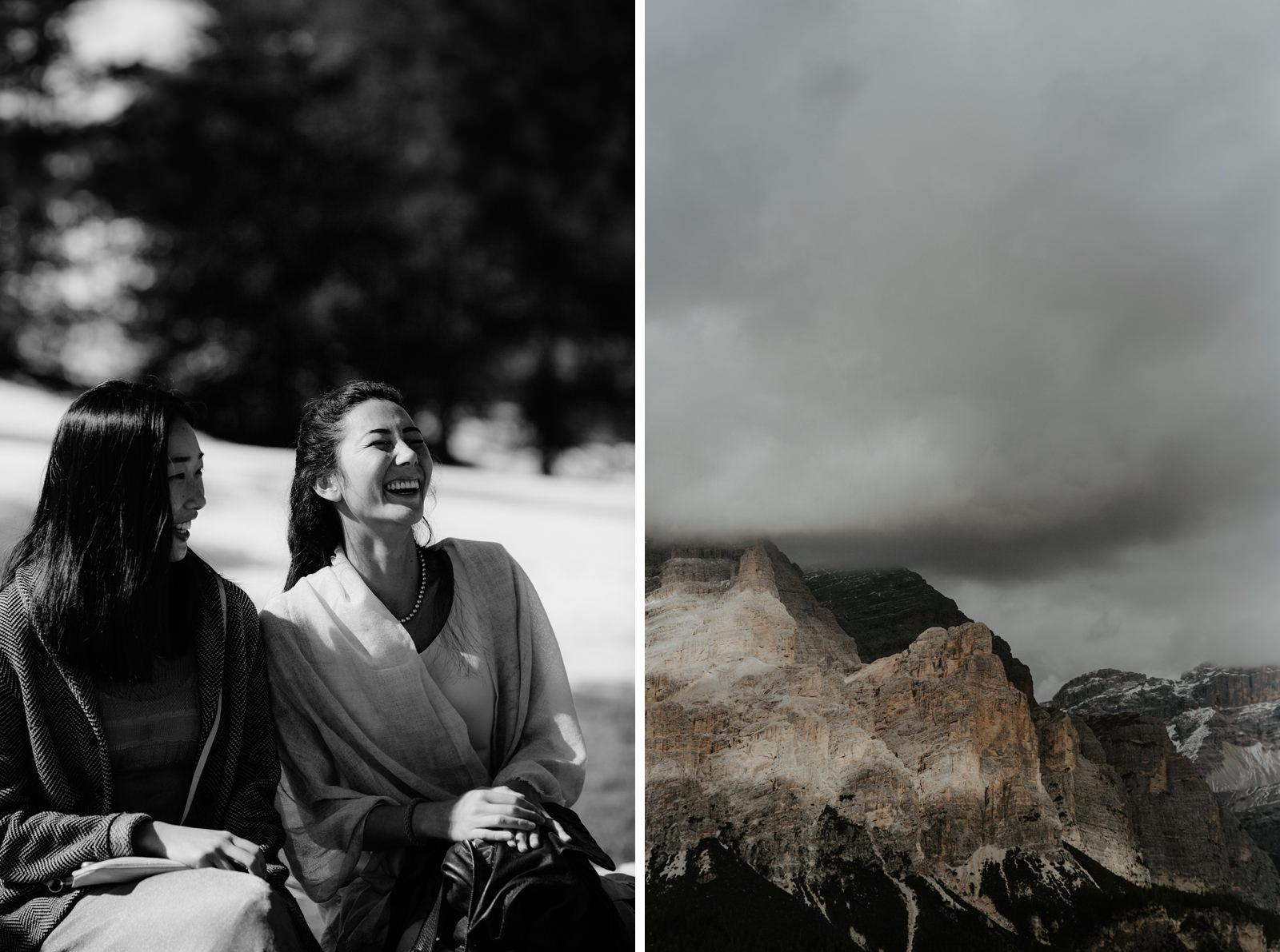 wedding ceremony in the Alps