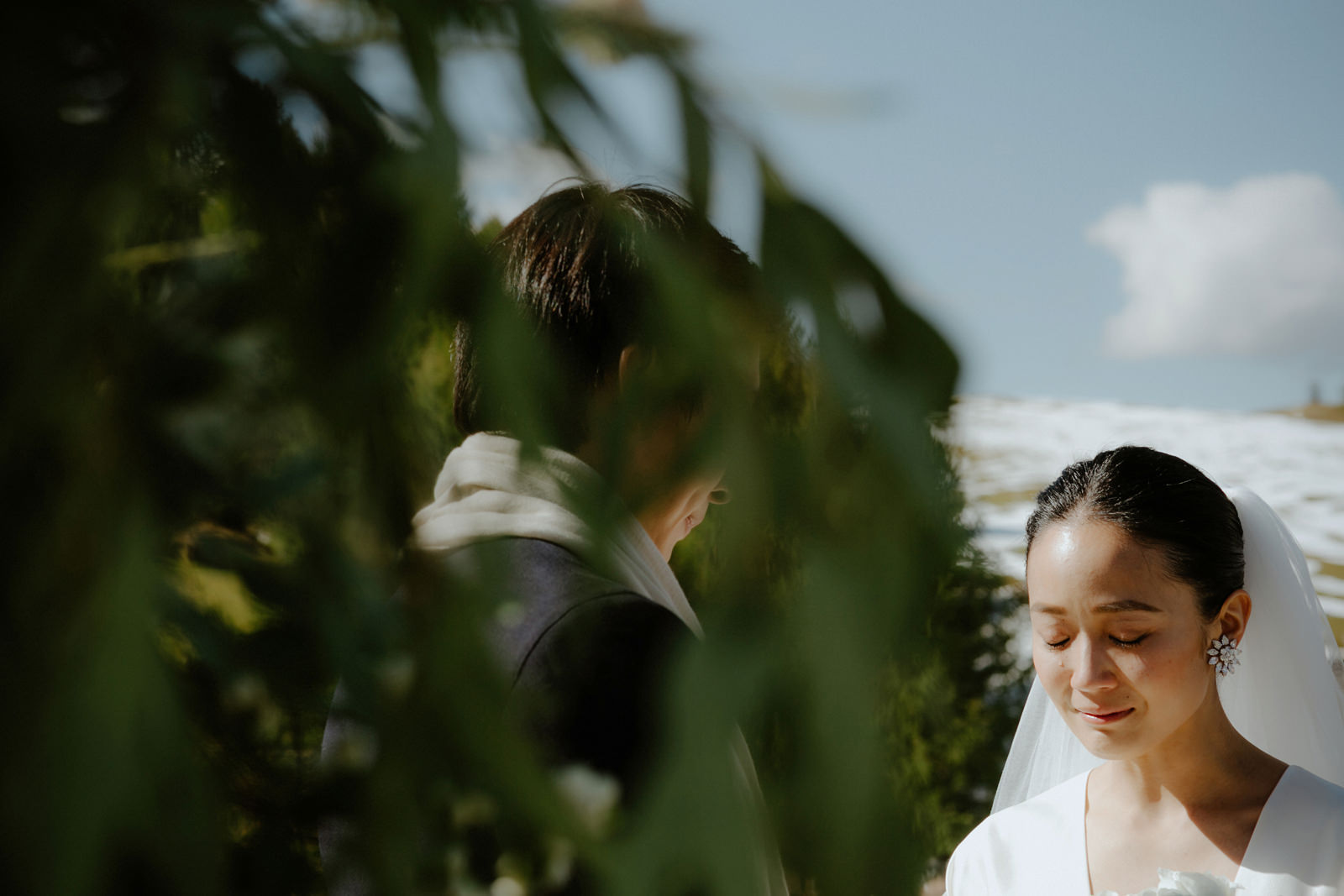 the bride during the ceremony