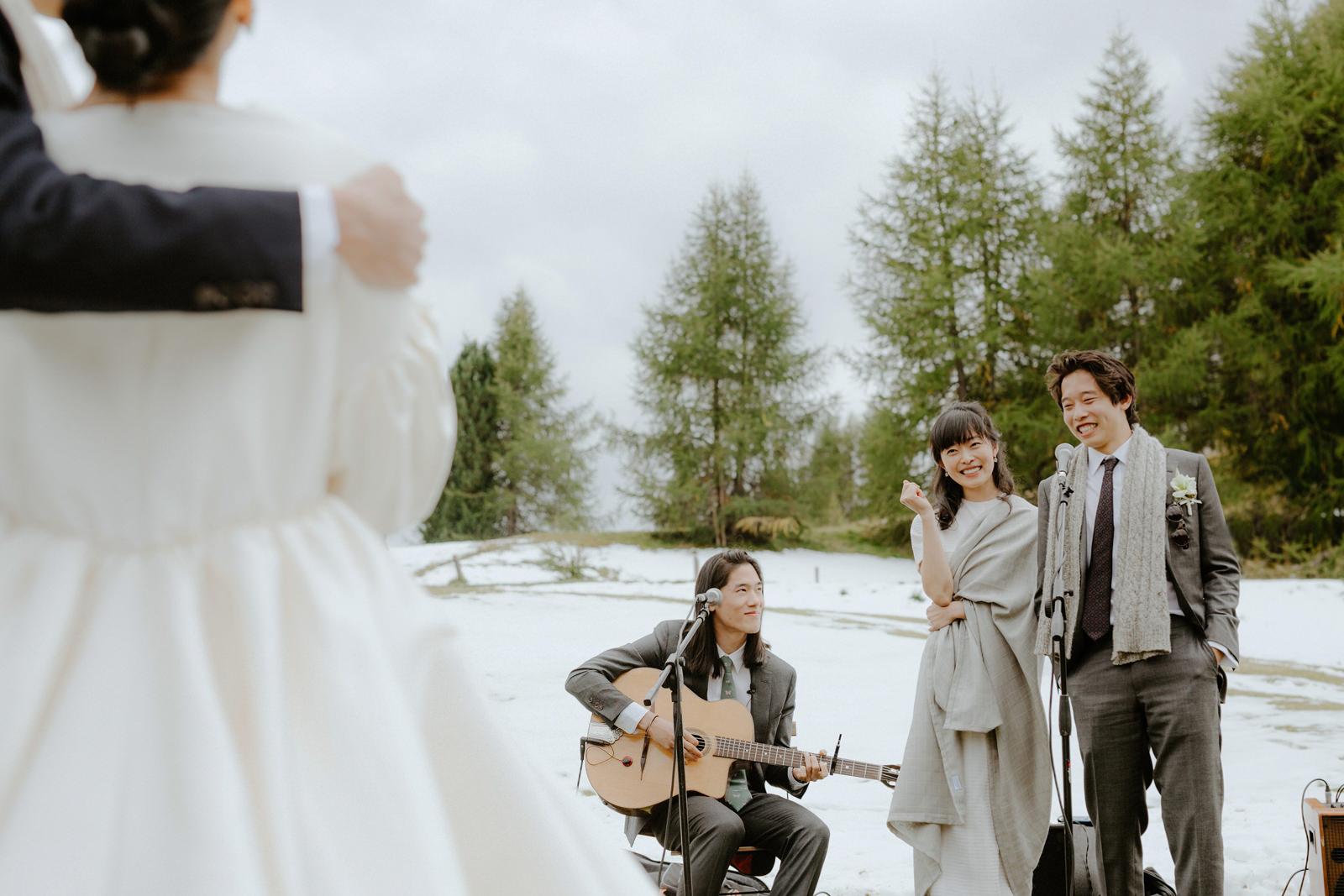 Mountain Wedding Reception