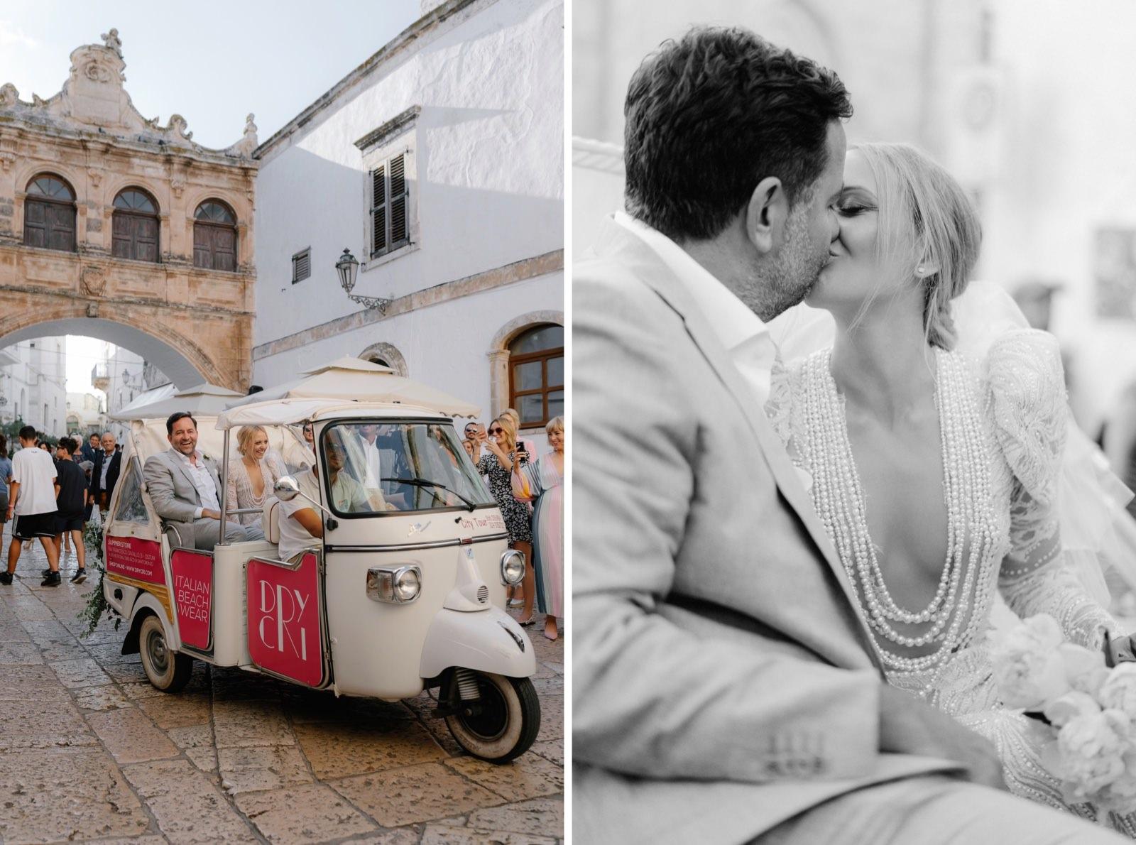 ape calessino bride and groom